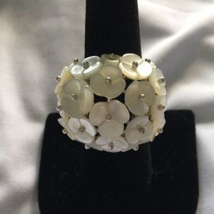 NWOT Fine Pearl Sterling Silver Ring